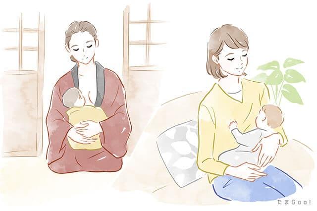 昔の授乳方法