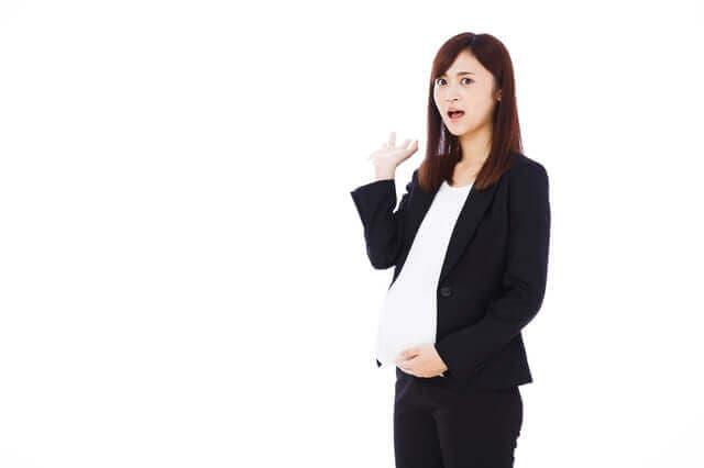 臨月の女性