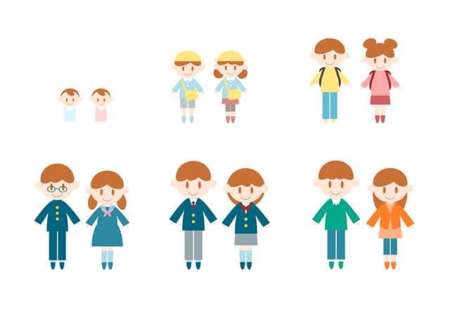子どもの成長のイラスト