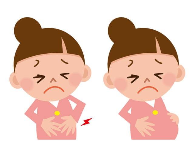 お腹が痛い妊婦