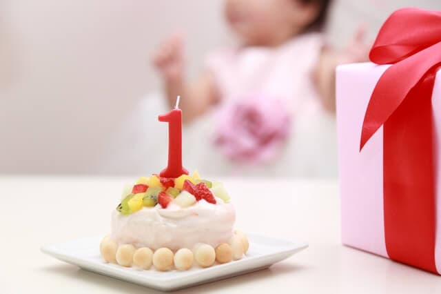1歳のバースディケーキ
