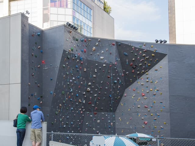 ロッククライミングの壁