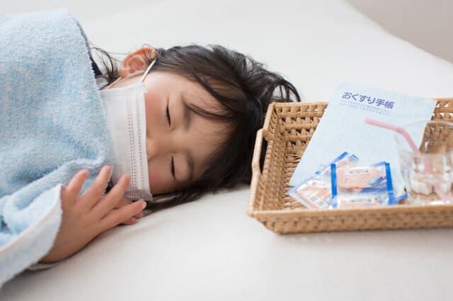 風邪をひいている子供