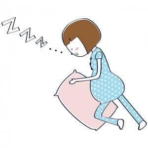 妊婦が楽に寝れる体制