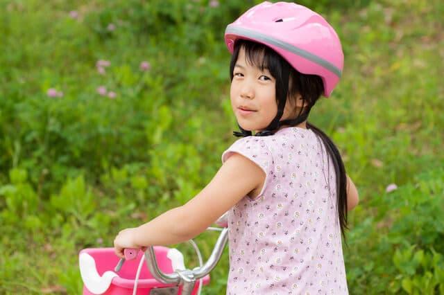 安全を確保して自転車にのる