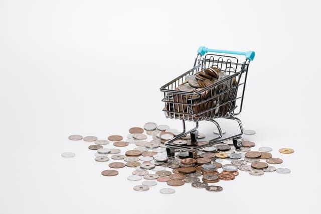 ショッピングカートとコイン