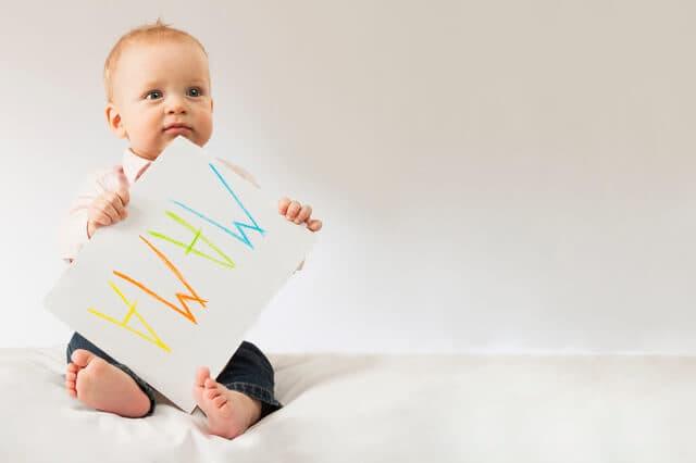 赤ちゃんとスケッチブック