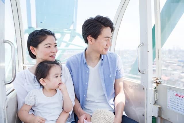 観覧車に乗る家族