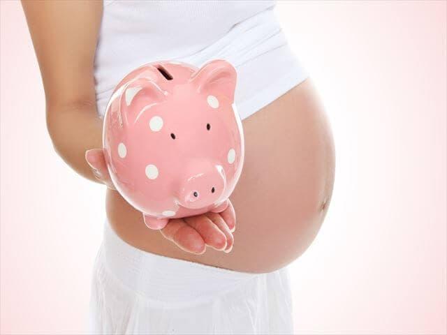 妊婦と貯金