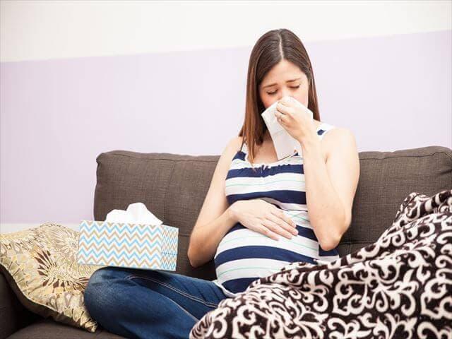 風邪をひく妊婦