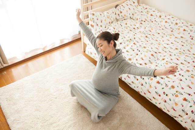 ノビノビ過ごす妊婦