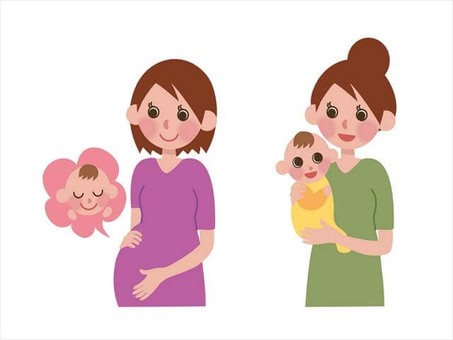 出産をする女性