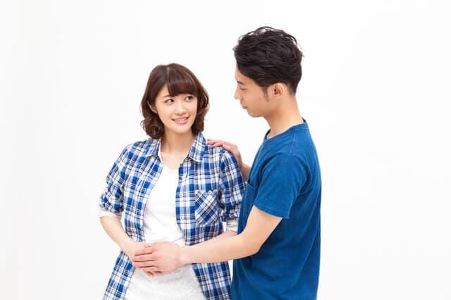 妊娠初期の夫婦