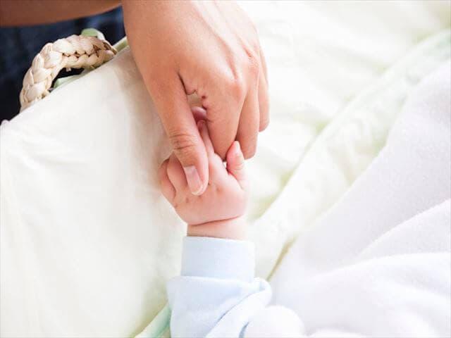 入院中のママと赤ちゃん