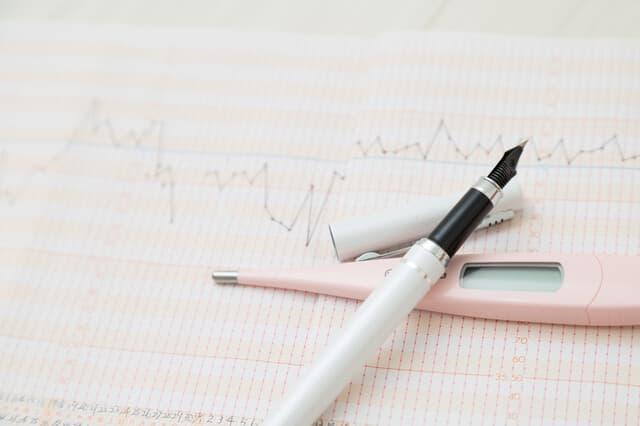 体温計とグラフ
