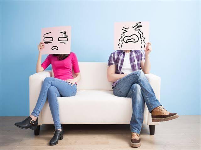 疲れている夫婦