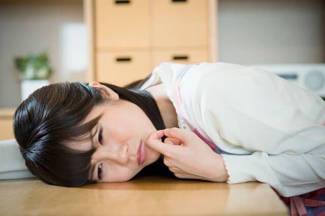 疲れている主婦