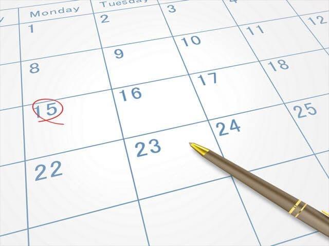 戌の日のカレンダー