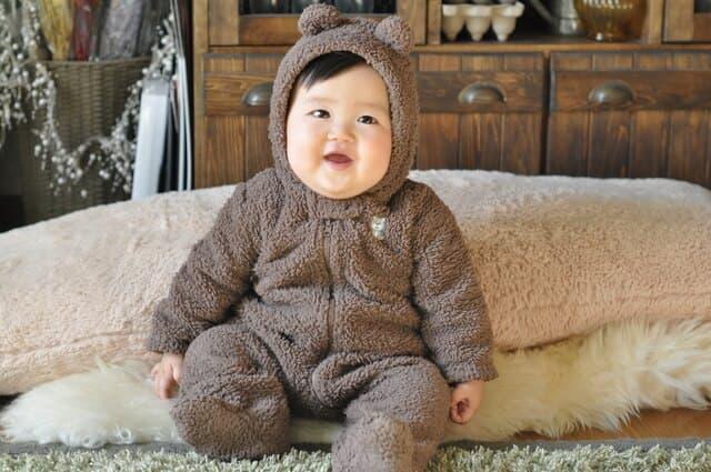 赤ちゃんの着ぐるみ