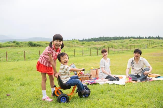 草原の三輪車