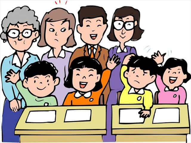 授業参観のイメージ