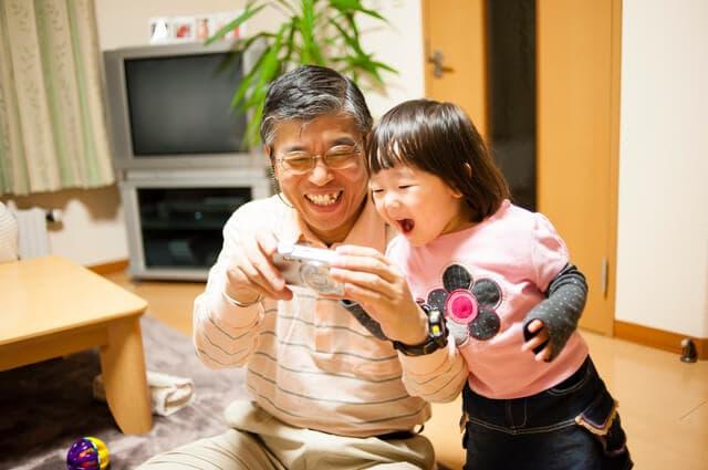 おじいちゃんとカメラ