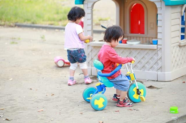 保育園の三輪車
