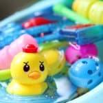 お風呂がめちゃくちゃ!お風呂で使うおもちゃの収納方法を教えます。