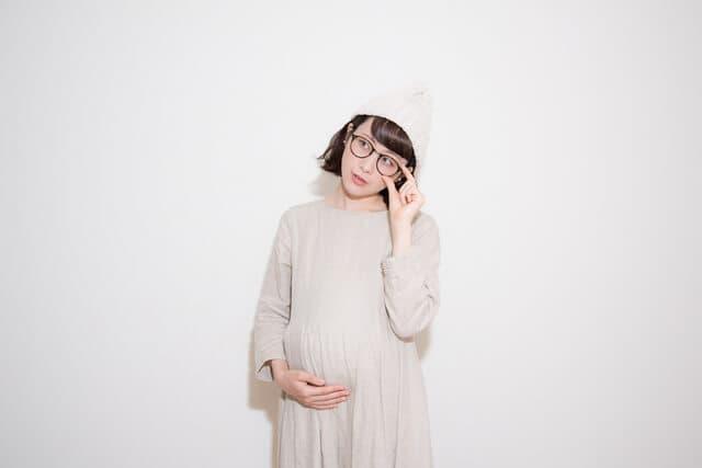 妊婦の眼鏡