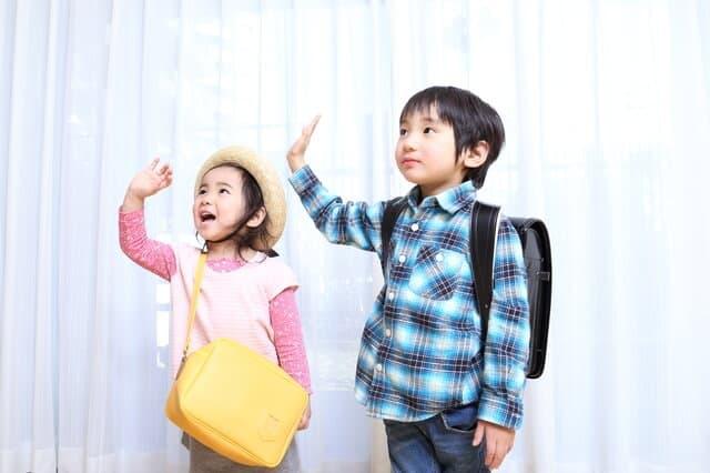 園児と小学生