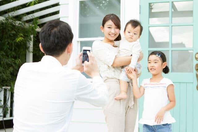 家族で写真