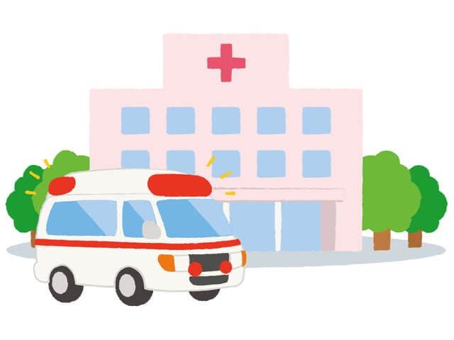 病院の救急車