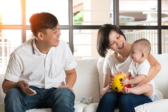 インドネシアの三人家族