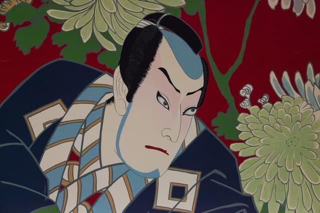 歌舞伎の顔の絵
