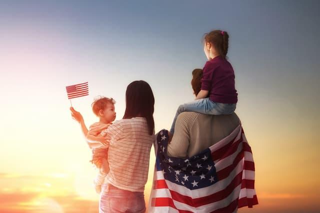 アメリカ人の家族