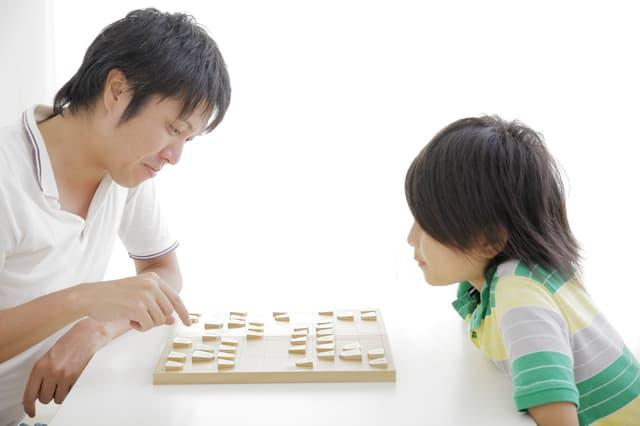 親子で将棋