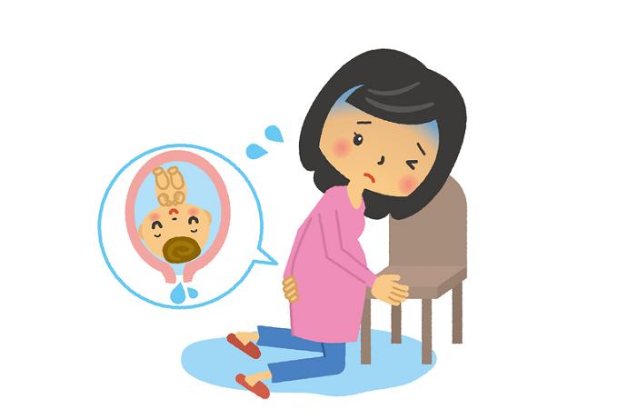 破水する妊婦