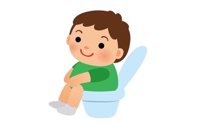 トイレの男の子