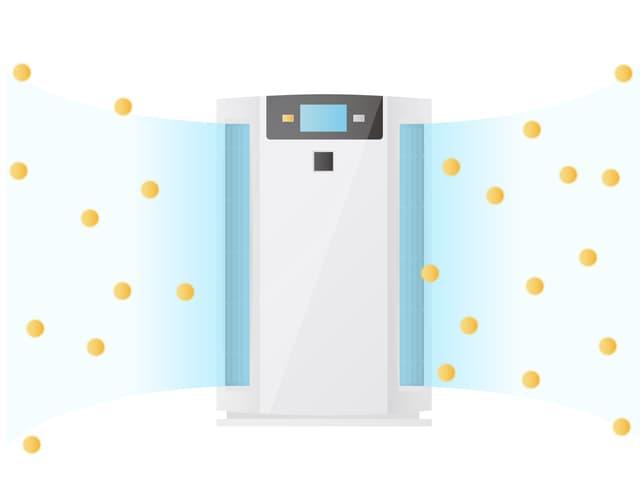 赤ちゃんの空気清浄機