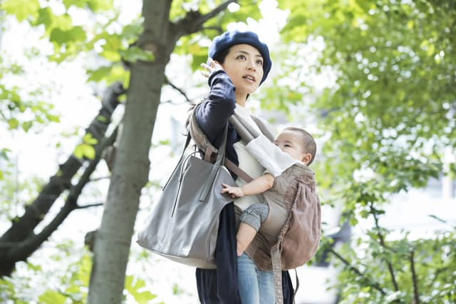 赤ちゃんと外出
