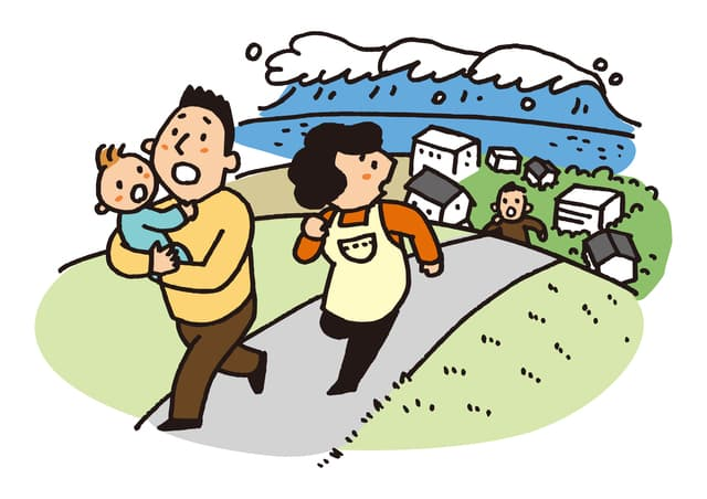 地震で避難
