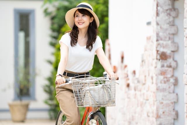 自転車で学校