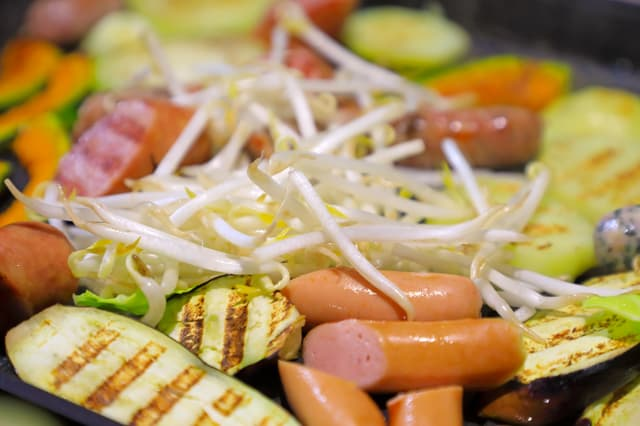 野菜を焼く