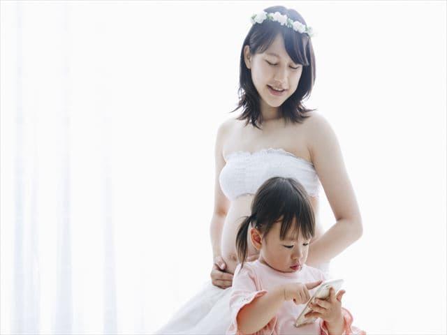 妊婦と上の子