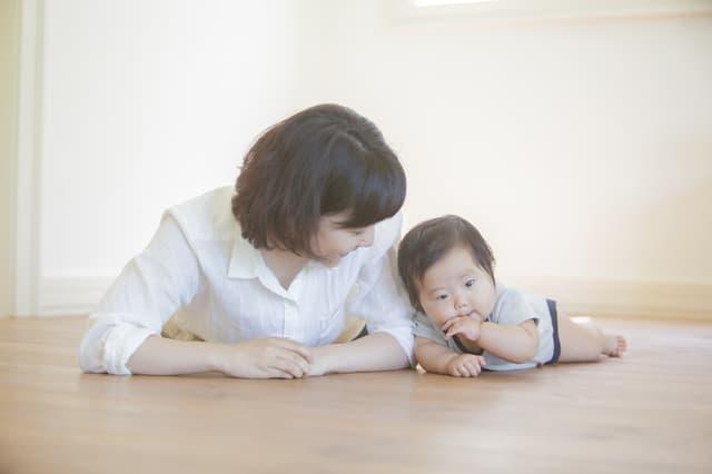 ママと練習