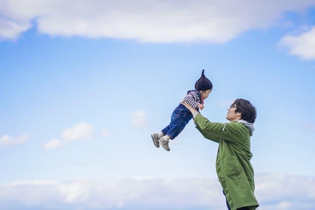 青空と赤ちゃん