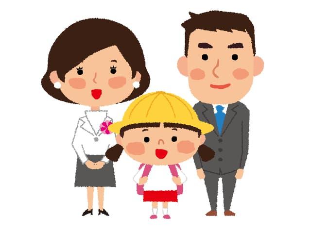 小学生の家族