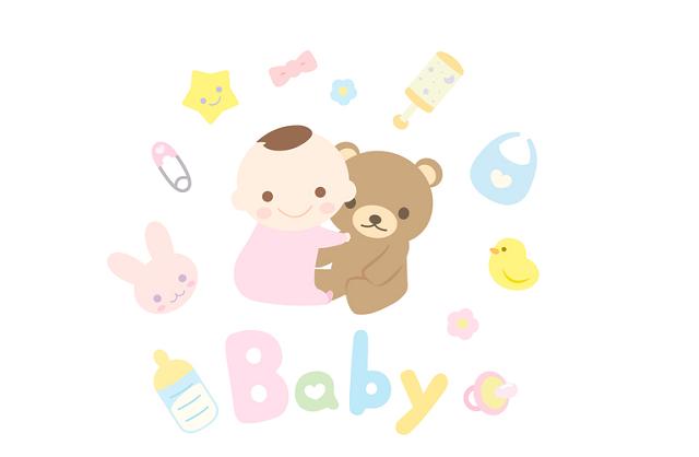 赤ちゃんとクマ