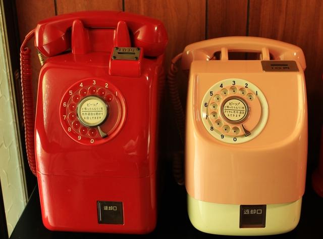 昔の公衆電話