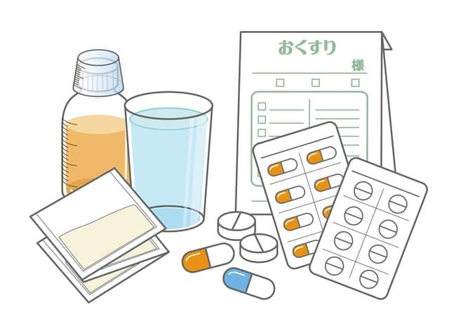 保育園で薬を飲む